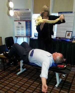 Lee Brandon showing spine alignment