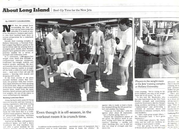 1990-1991 NY Times Article with Greg Robinson